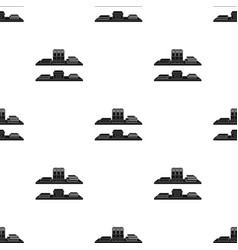 Office shelves with file folders icon in black vector