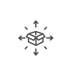 parcel delivery line icon logistics service sign vector image