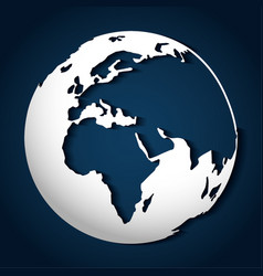 Planet sphere design vector