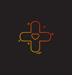 plus heart medical icon vestor design vector image