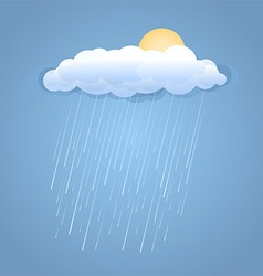 Rain summer cloud with sun vector