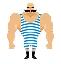 Retro strongman sportsman ancient bodybuilder vector