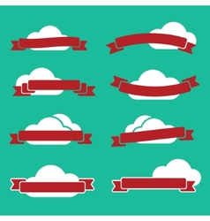 Ribbons and clouds vector image