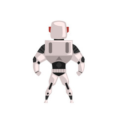 Robot spacesuit superhero cyborg costume back vector
