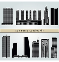 Sao Paulo V2 landmarks and monuments vector image
