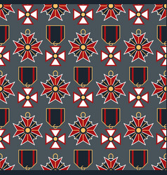 Seamless pattern with medals vector