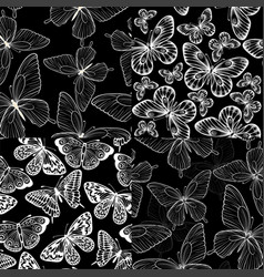 set beautiful monochrome black and white vector image