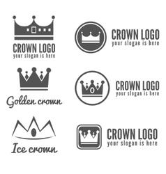 set logo labels badges emblems or logotype vector image