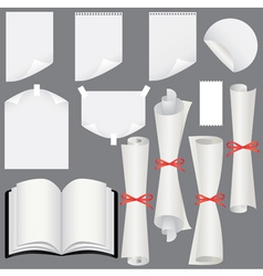 sheets scrolls and book vector image vector image