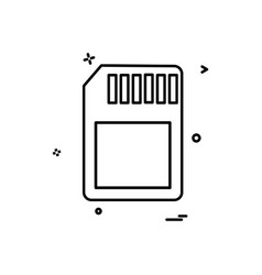 sim icon design vector image