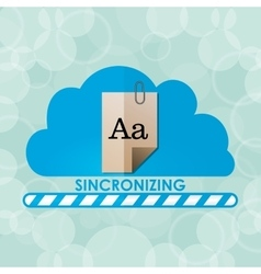 Sincronizing and download vector image