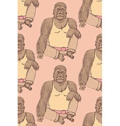 Sketch fancy gorilla in vintage style vector image