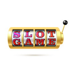 slot machine with text slot game vector image