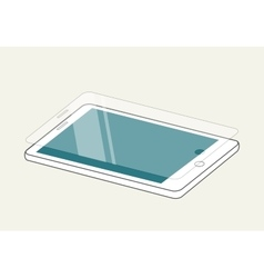 Smartphone display with protector glass or film vector image