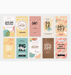 Social media sale banners vector