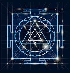sree ganapati yantra sacred geometr vector image