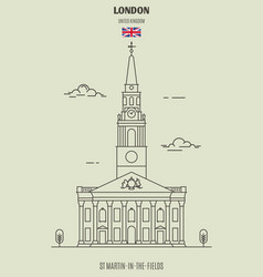 st martin-in-the-fields in london vector image