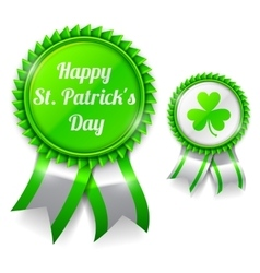 St Patrick Day Medals vector image