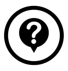 Status flat black color rounded icon vector