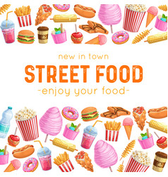Street food layout vector