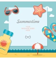 Summertime traveling template vector