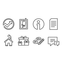 Surprise boxes document and audit icons keywords vector