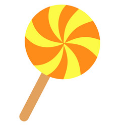sweet lollipop on white background vector image
