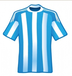T-shirt of soccer of argentina vector