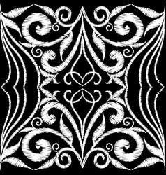 tapestry floral vintage seamless pattern black vector image