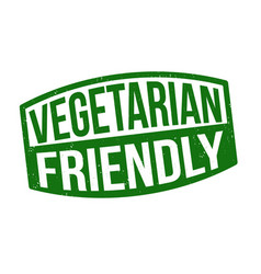 Vegetarian friendly sign or stamp vector