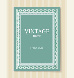 vintage frame retro style poster decorative border vector image