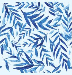 Watercolor branch pattern vector