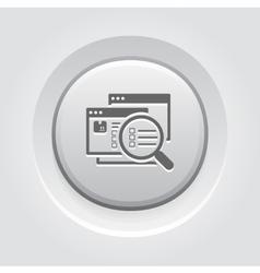 Website Optimization Icon Grey Button Design vector