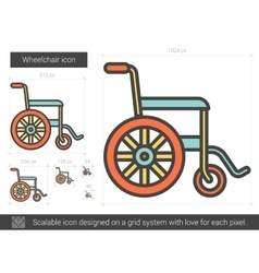 Wheelchair line icon vector
