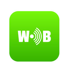 wifi icon green vector image