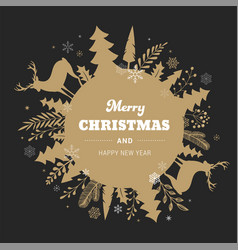 winter background merry christmas abstract vector image