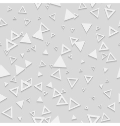 Abstract Geometric 3d White Seamless Pattern vector image vector image