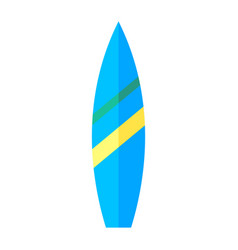 coloured image of a surfboard vector image vector image