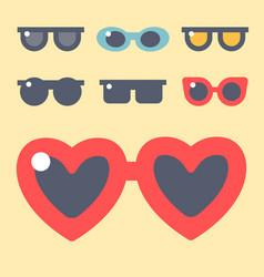 fashion set sunglasses accessory eyeglasses vector image vector image