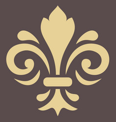 golden pattern with royal lily vector image vector image