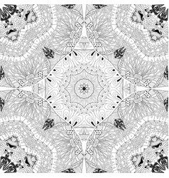 hand drawn zentangle seamless pattern for vector image vector image