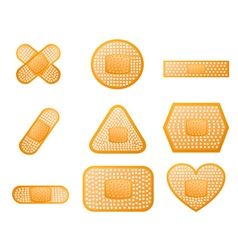 Medical first aid plaster vector image