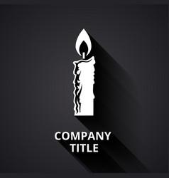 Modern candle logo vector image