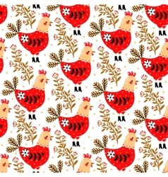 Pattern with chicken in Boots vector image