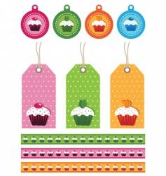 cake tags vector image vector image