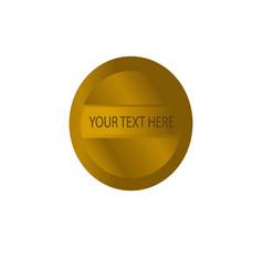 luxury gold design logo banner or button vector image
