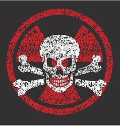 Nuclear skull symbol vector image vector image
