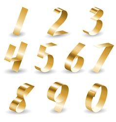 Ribbon number set vector image vector image