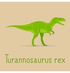Turannosaurus rex colorful card vector image