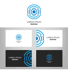 Business logo vector image vector image